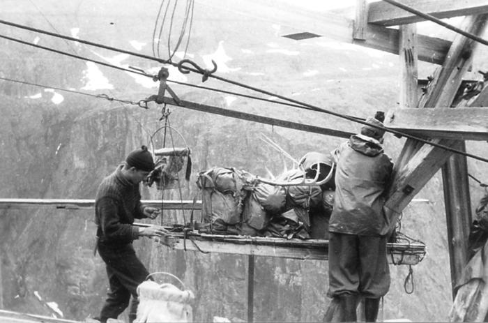 Taubanen til Mikkjelstøl i 1958