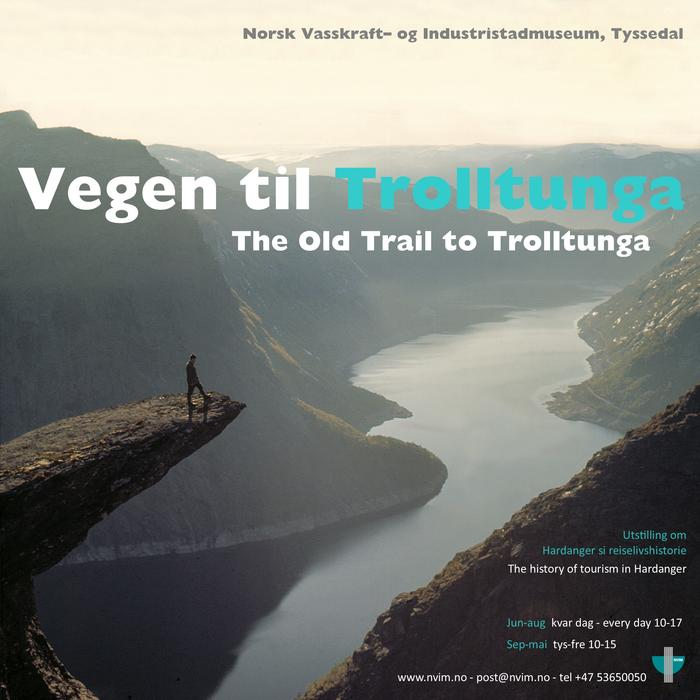 Plakaten vegen til Trolltunga
