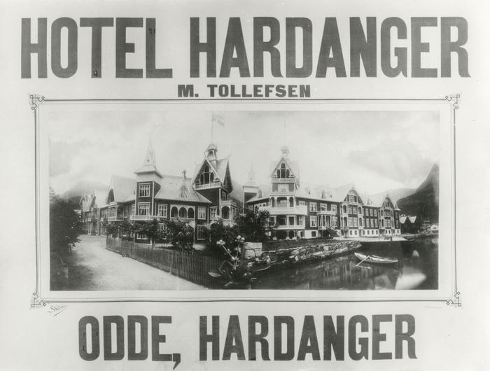 Reklameskilt for Hotel Hardanger
